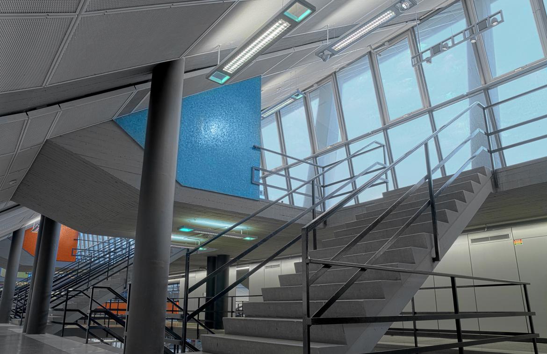 Wiener Stadthalle innen | podpod design ] light space object [