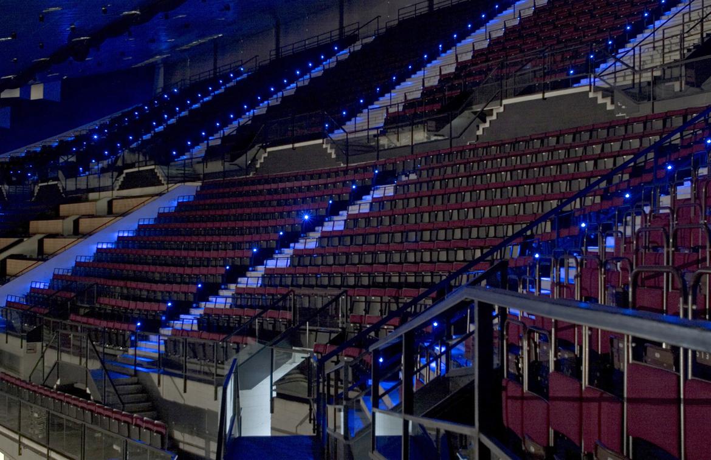 Wiener Stadthalle innen | podpod design ] light space object