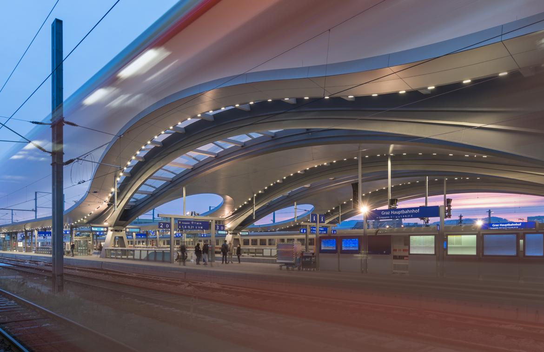 Hauptbahnhof graz podpod design light space object for Produktdesign wien